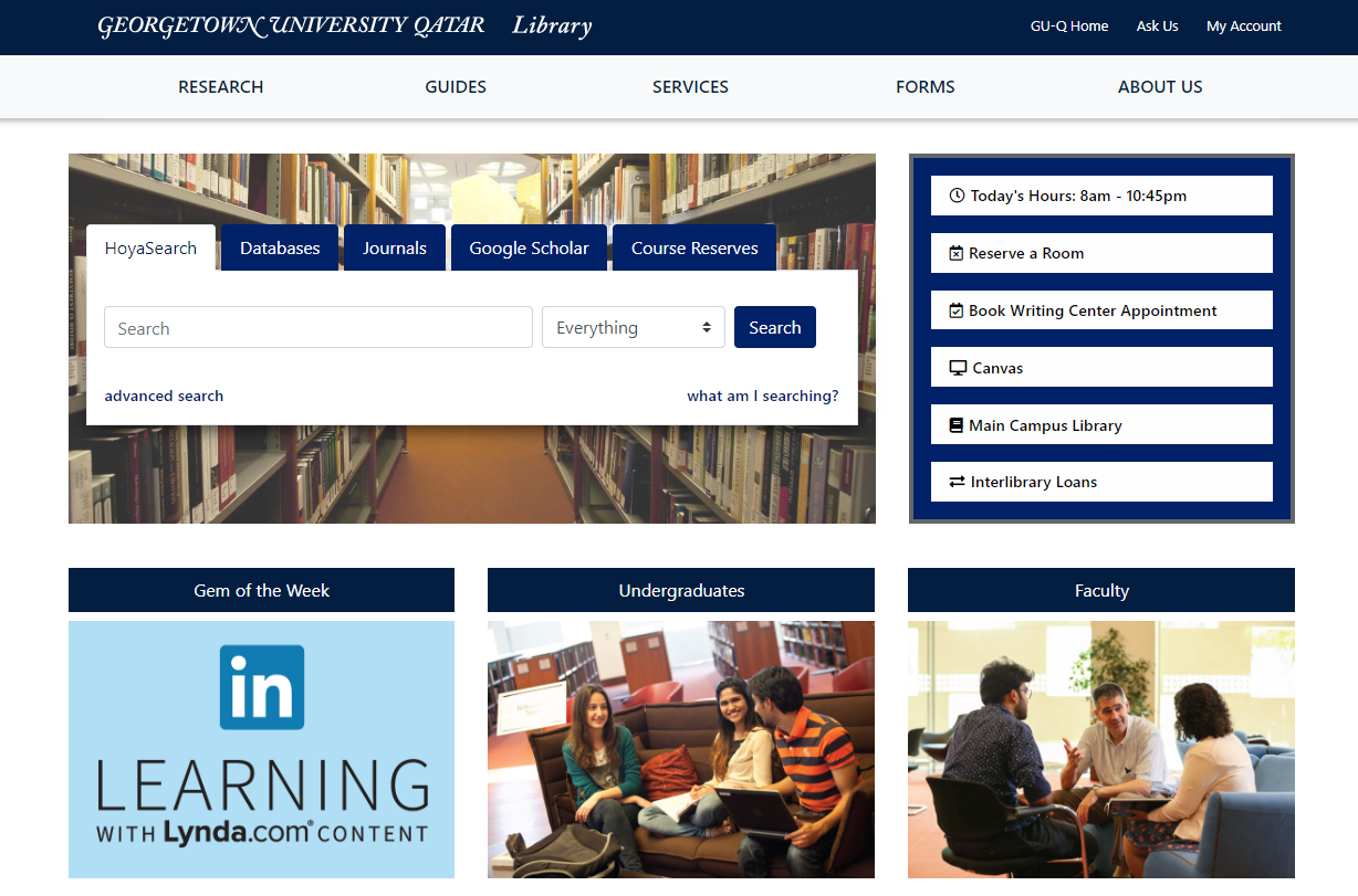 Library Website - Project Website